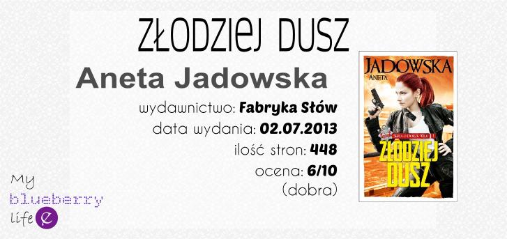 Książka w praktyce: Aneta Jadowska - Złodziej Dusz