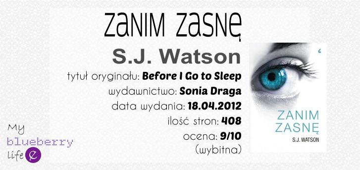 S.J. Watson - Zanim zasnę