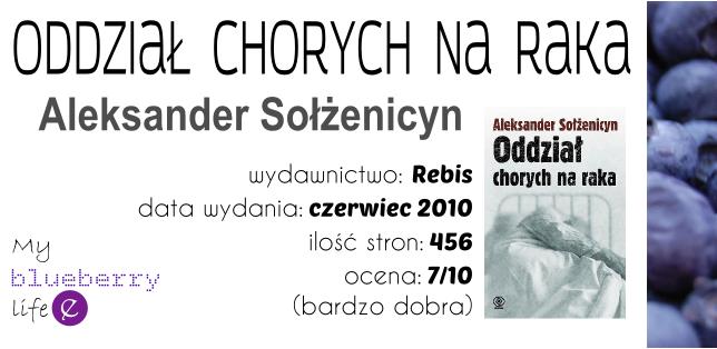 Aleksander Sołżenicyn - Oddział chorych na raka