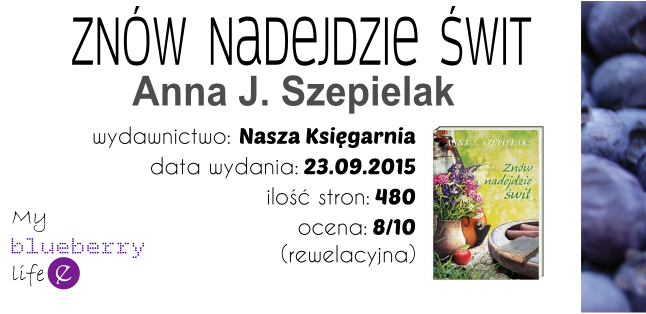 """PREMIERA! Anna J. Szepielak """"Znów nadejdzie świt"""""""