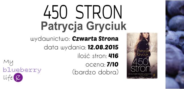 Patrycja Gryciuk - 450 stron