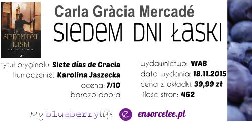 Carla Gràcia Mercadé – Siedem dni łaski