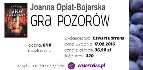 PREMIERA! Joanna Opiat-Bojarska - Gra pozorów